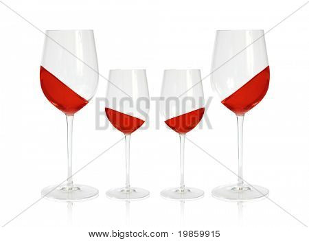 four wineglasses