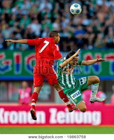 VIENNA,  AUSTRIA - JULY 19 Friendship game between SK Rapid and Liverpool FC: Midfielder Yasin Pehlivan (#35, Rapid) and his team win 1:0 on July 19, 2009 in Vienna, Austria.