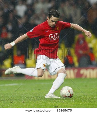 Owen Hargreaves at the Champions League Final held at Luzhniki Stadium Moscow 21 May 2008 and contested by Manchester United v Chelsea FC