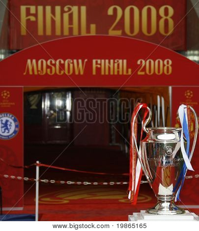 Champions League Final held at Luzhniki Stadium Moscow 21 May 2008 and contested by Manchester United v Chelsea FC