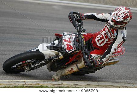 MILAN ITALY JUNE 24 Chris Hodgson at the FIM Supermoto World Championship CASTELLETTO DI BRANDUZZO ITALY