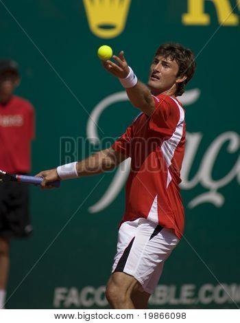 MONTE CARLO MONACO APRIL 24 Juan Carlos Ferrero Spain competing at the ATP Monte Carlo Masters in Monaco