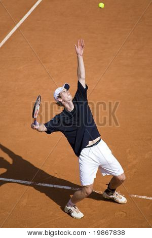 MONTE CARLO MONACO APRIL 24, Novak Djokovic SRB v Andy Murray GBR competing in the ATP Masters tournament in Monte Carlo, Monaco, 19-27 April 2008