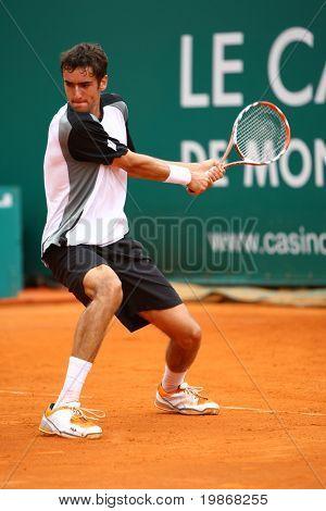MONTE CARLO MONACO APRIL 20, Marin Cilic CRO  competing in the ATP Masters tournament in Monte Carlo, Monaco, 19-27 April 2008