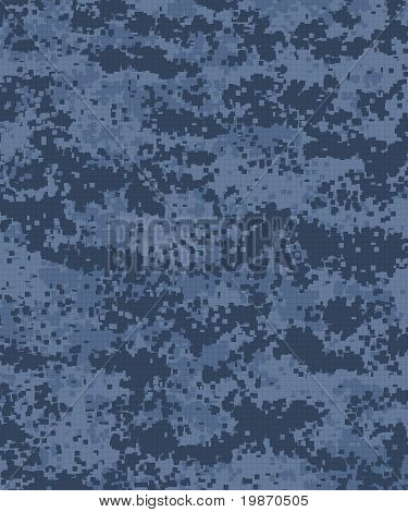 Digital Camouflage Pattern Blue