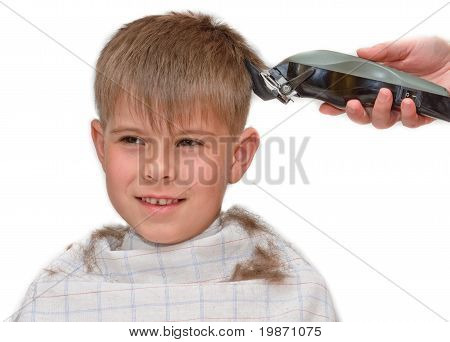 Boy Mows Clipper