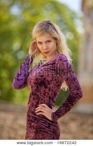 arrogant looking fashion model