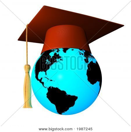 Globe With Graduation Cap