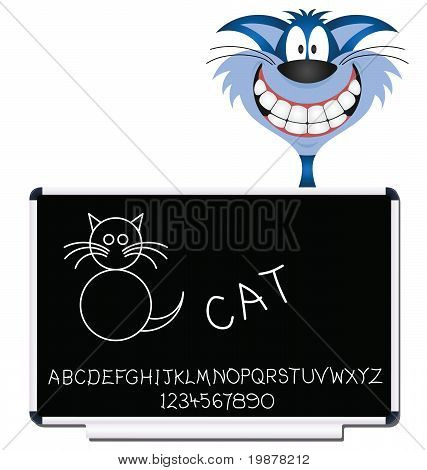 Cat blackboard