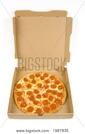Whole Pepperoni Pizza In A Box