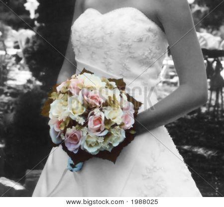 B&W Color Bouquet