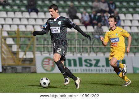 KAPOSVAR, HUNGARY - NOVEMBER 24: Marko Scepanovic (2) in action at a Hungarian Liga Cup soccer game Kaposvar vs BFC Siofok November 24, 2010 in Kaposvar, Hungary.