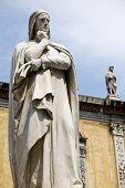 foto of alighieri  - Detail shot of statue of Dante Alighieri - JPG