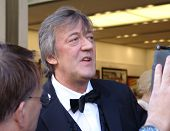 REGENT STREET, LONDON - MAY 11: Stephen Fry the actor and comedian interviewed at prodcut launch in