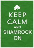 Keep Calm Poster with St. Patricks Day Greetings poster