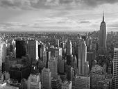 foto of new york skyline  - Manhattan and a view of the various buildings - JPG