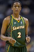 LOS ANGELES, CA. - SEPTEMBER 16: Swin Cash about to take a free throw shot during the WNBA playoff g