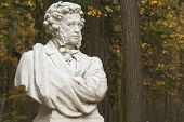Monument To Great Russian Writer And Poet A.S.Pushkin poster