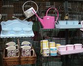 stock photo of bric-a-brac  - Market stall display - JPG