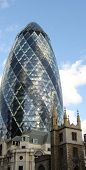 The gherkin building, London