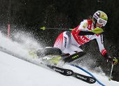 OFTERSCWHANG GERMANY JANUARY 27 Nicole Hosp Austria Competing in the Audi FIS Alpine Ski World Cup E