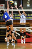 KAPOSVAR, HUNGARY - SEPTEMBER 20: Chovan(4) Palfy (C), and Kondor (8) in action at the Hungarian Ext