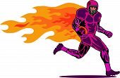 Football Player On Fire
