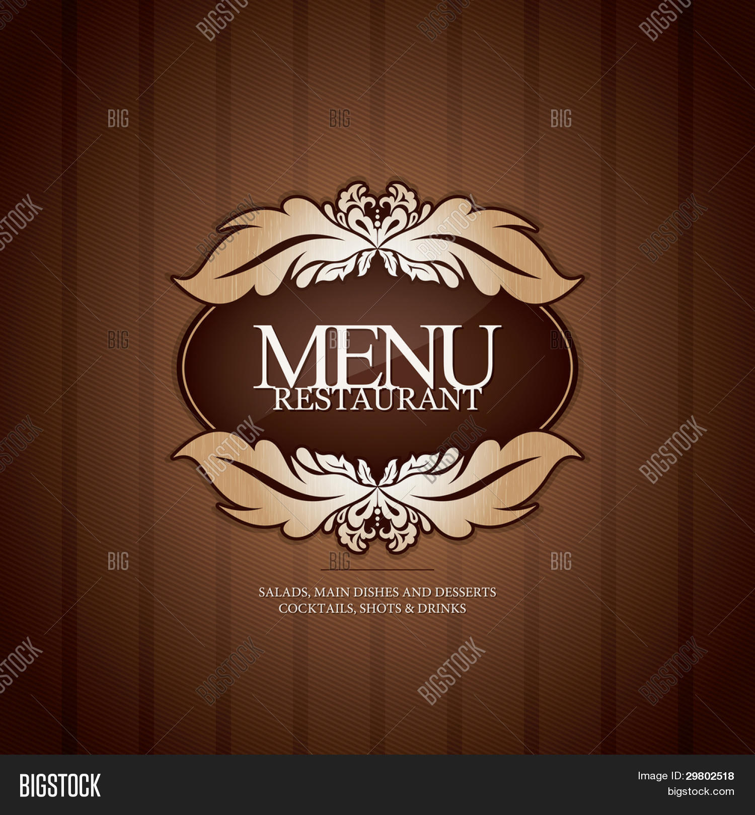 restaurant menu design seamless vector amp photo bigstock