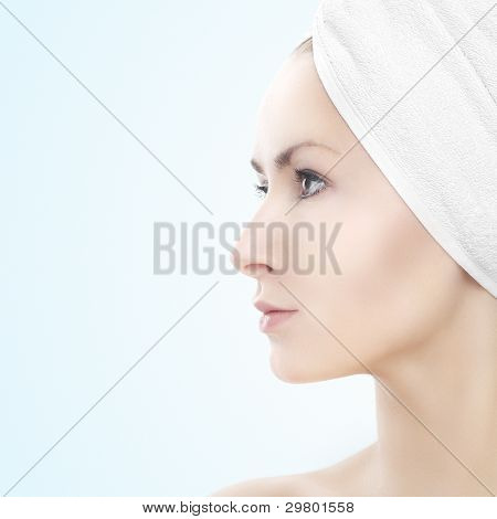 Beauty Portrait - Girl With Towel