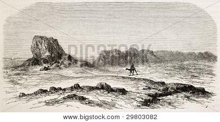 Seleucia old view, Mesopotamia (nowadays Iraq). Created by De Bar after Lejean, published on Le Tour du Monde, Paris, 1867