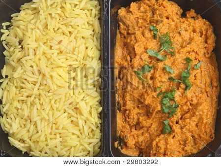 TV dinner Indian curry with rice