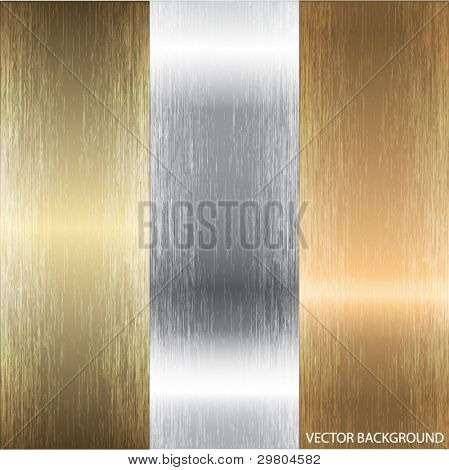 Aluminum, bronze and brass textures