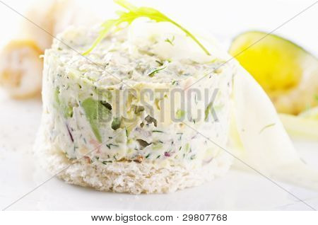 Tartar with avocado and salmon