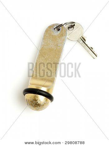 hotel room key isolated on white