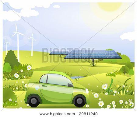 Renewable Energy. Green World.