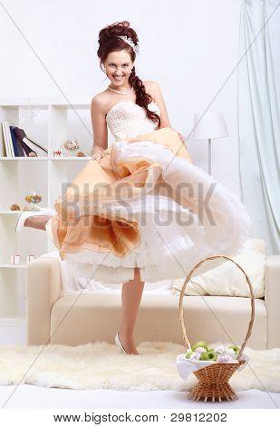 Beautiful Retro Dancing Girl