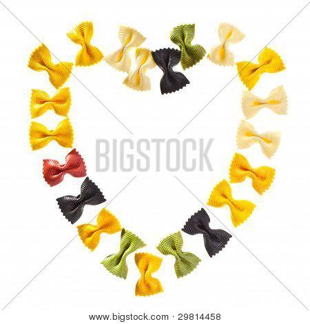 Pasta Heart Shaped