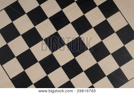 Wooden Chess Board Using By Texture
