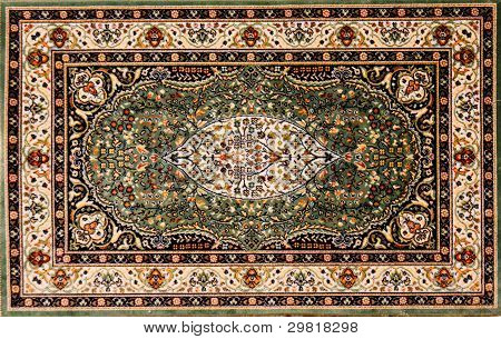 Persian rug with floral pattern