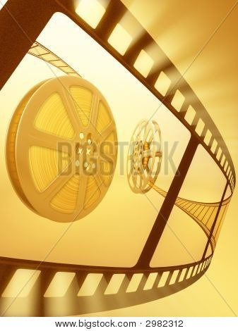 Film Reel Close-Up
