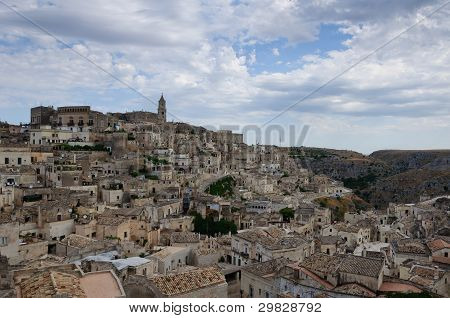 The Old City Of Matera.