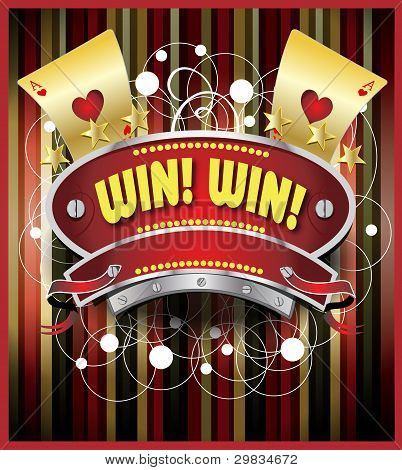 Gambling Emblem Illustration