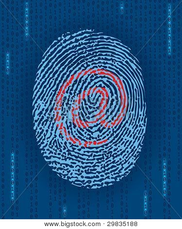 Digital finger print with e-mail mark
