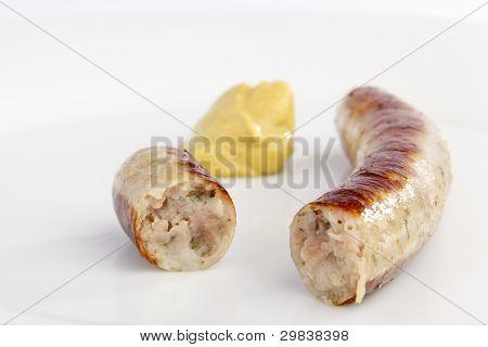 Bavarian sausage with mustard
