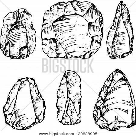 Ancient big stone tools