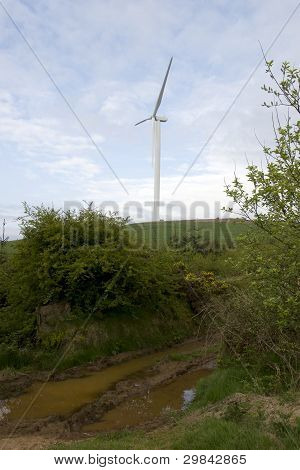 Mucky Road To A Windmill In Tipperary Ireland