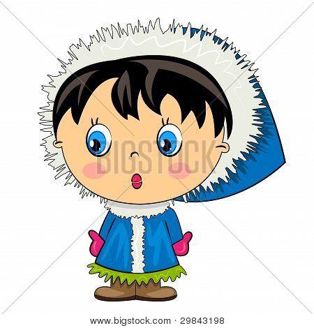 cartoon kid.vector baby girl isolated character