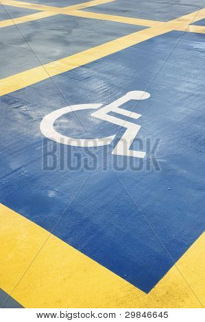 Parking Space Reserved For Handicapped Person