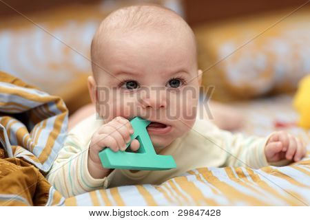 Angry Baby With Alphabet