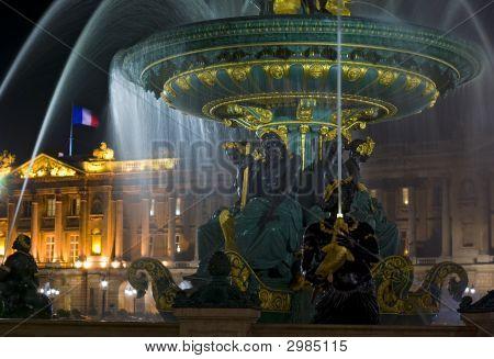 Fuente, Place De La Concorde, París, Francia